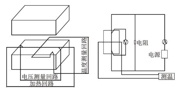 图4热线法导热系数测试原理及电路链接示意图[2]
