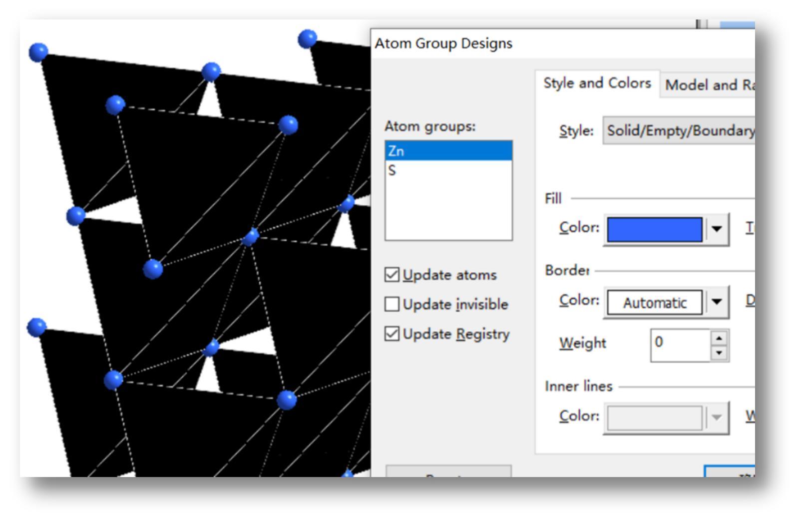 图9设置原子颜色