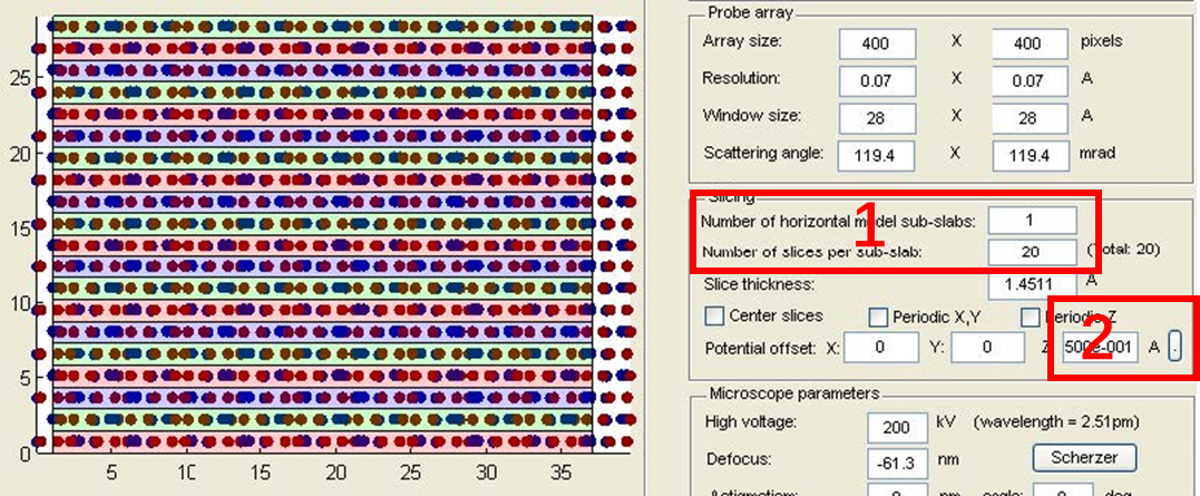 STEM图像 模拟软件QSTEM入门教程演示参考图7
